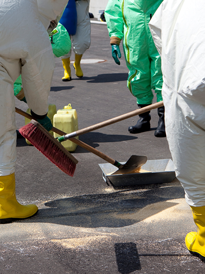 Cleaning Hazardous Materials