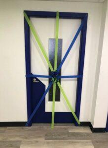 training room door